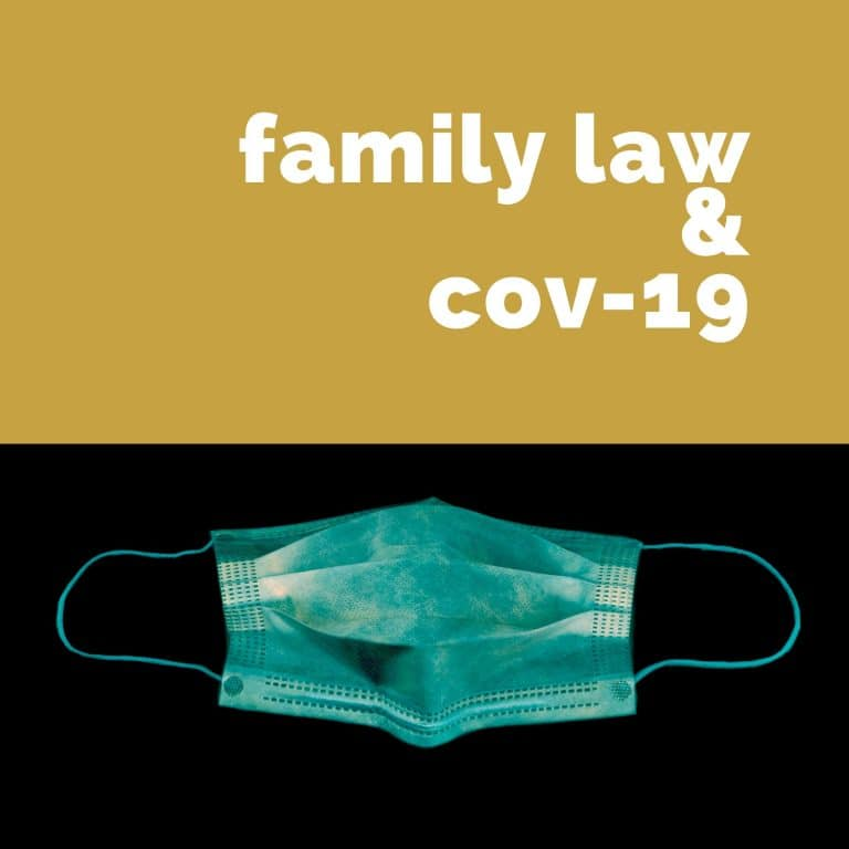 How is family law reacting to COVID-19?