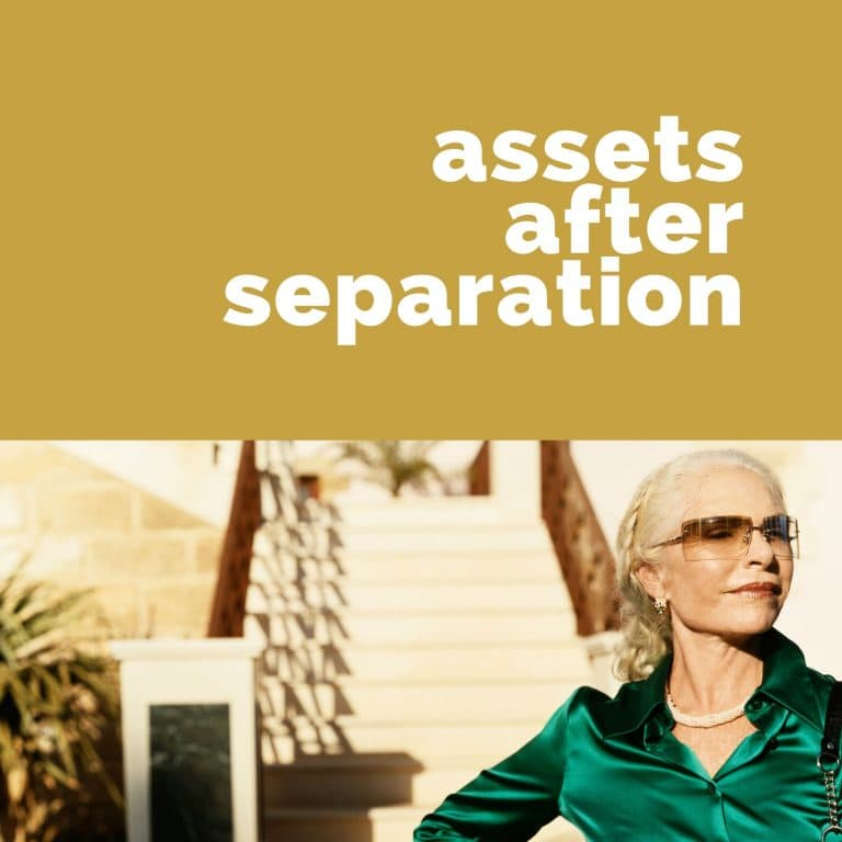 Are assets received post family law separation included in the property settlement?