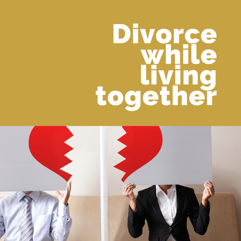 Getting a divorce while living together