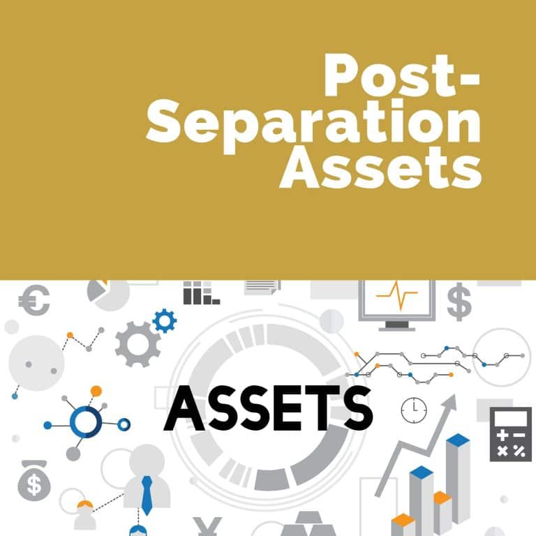 Post-Separation Assets