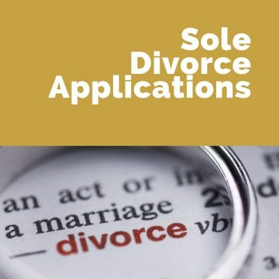 Sole Divorce Applications