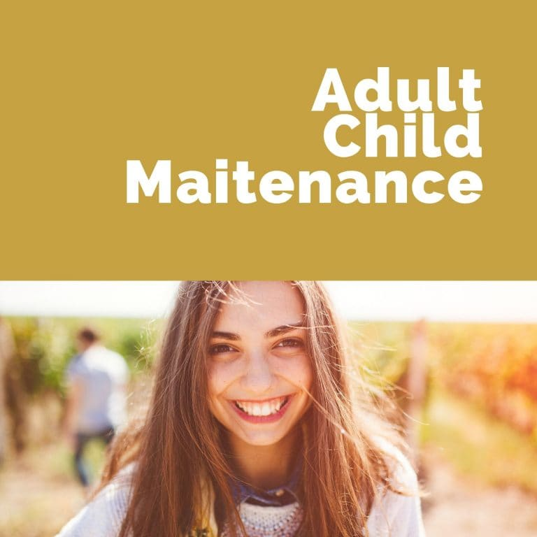 Adult Child Maitenance
